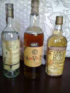 1957 Grappa Contratto + 1976 Grappa Ceretto + Grappa Barolo