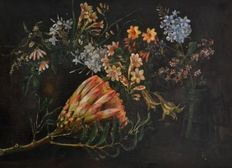 St C Lockard (20th century) - Stilleben Flowers,