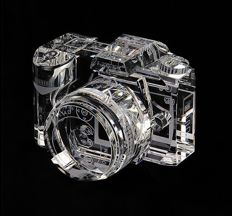 Nikon D90 DSLR Camera  - 100% crystal display model -  2/3's of actual size, replica with storage box