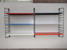A. Dekker for Tomado – bookshelf/wall unit XL with six shelves and three large side supports.