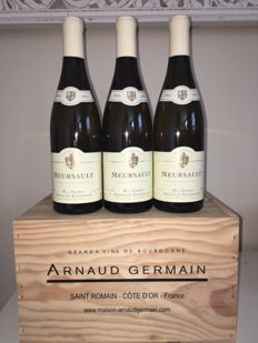 2015 Meursault Arnaud Germain Saint Romain. 3 bottles OWC