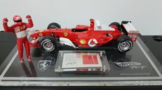 Hot Wheels - Scale 1/18 - Ferrari F2004 - to celebrate the 7-time world champion Michael Schumacher