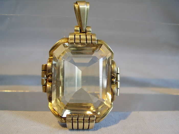 Large pendant with natural citrine 40 ct catawiki large pendant with natural citrine 40 ct aloadofball Choice Image