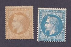 France 1867-1868 – Yvert #28A and 29B