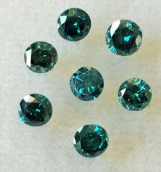 Lot of 9 natural diamonds ct. 1.37 No reserve price.