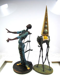 Salvador Dali - 2 sculptures of The Temptation of St. Anthony