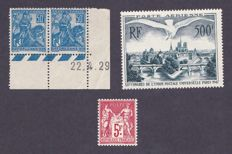 France 1925 1947 – Yvert #216, 257 and PA #20