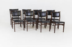 Designer unknown – set of 11 vintage mid century, modern, chairs