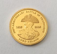"Great Britain - 1 pound 2005 ""Lord Nelson"" - 1/25oz gold"