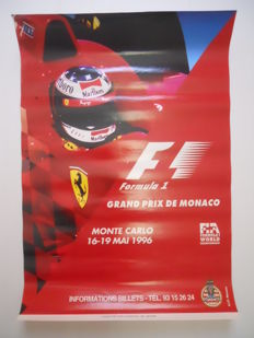 Original poster of the Grand Prix Automobile of Monaco of May,16th to May,19th 1996