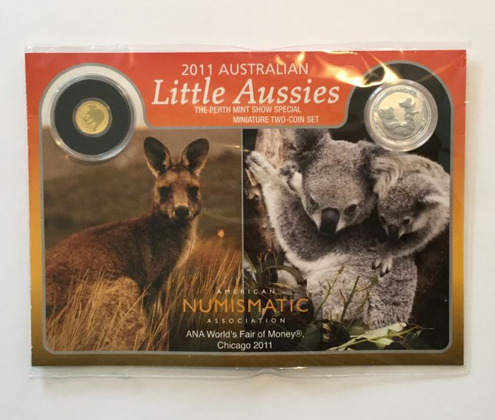 Australia – 10 Cents & 2 Dollars 2011 (2-coin set) – Silver & Gold