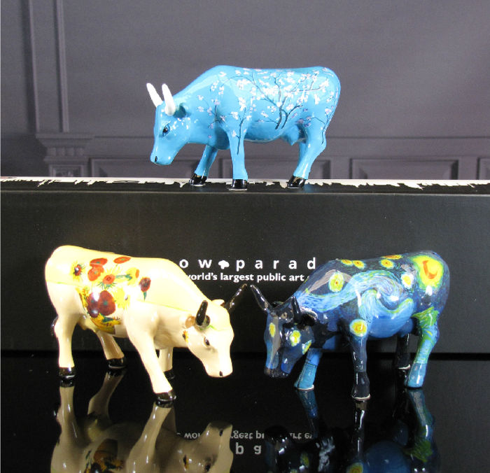 CowParade Collectables - Artpack 3 cows  - Van Gogh