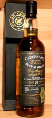 Glen Moray 1992 aged 20 years old, 70cl, 57,3%vol. Cadenheads Authentic Collection, Cask Strength Single Malt Scotch Whisky