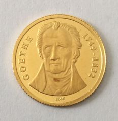 Togo – 1500 francs 2005 'Goethe' – 1/25 oz gold