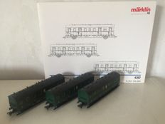 Märklin H0 - 4397 - Set of three carriages of the SNCB