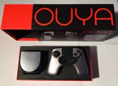 Ouya console boxed with extra controller