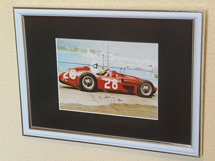 Stirling Moss - Mercedes Racing legend - hand-autographed framed photo + COA
