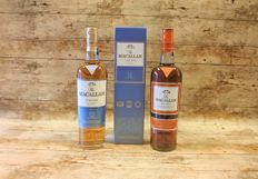 The Macallan Fine Oak 12 YO in box + Sienna - 2 Bottles