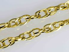 18k Gold. Chain Oval Singapore. Length 50 cm. No reserve price.