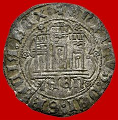 Medieval Spain - Enrique IV of Castille (1454-1474) – vellon quarter (2.22 g,  25 mm). Jaen