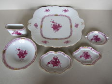 Herend porcelain - 6 Chinese Bouquet Raspberry items
