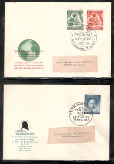 Berlin 1951-1955 - 27 different official envelopes