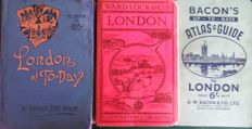 London; Lot with 3 travel guides about London - 1895/1940