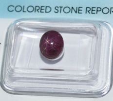 Starry ruby - 2.97 ct - No Reserve Price.