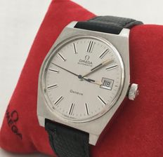 Omega 1481 Genève with unique, stainless steel dial -- men -- 1972