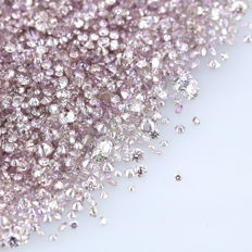 Lot of 2.00 Ct. Natural Fancy purple Pink Diamond 1.00 mm calibrated diamonds.