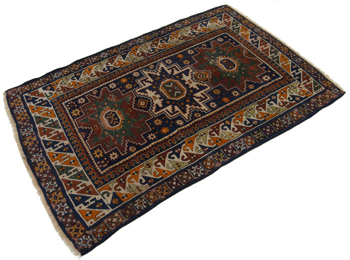 Very antique Russian carpet – Azerbaijan, SHIRWAN – 100% WOOL – MUSEUM quality piece – Original, HAND-knotted (period 1880-1910) – (Galleriafarah1970) 94448
