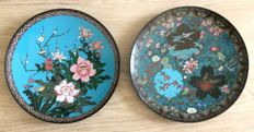 A fine set of two cloisonné chargers from - Japan - late 19th century (Meiji period)