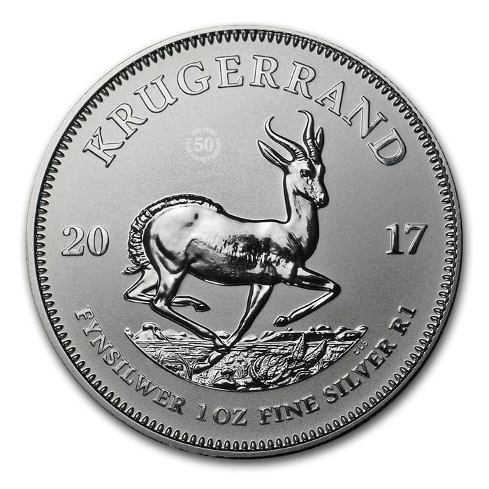 South Africa - Krugerrand 2017 '50 years anniversary edition' - 1 oz silver