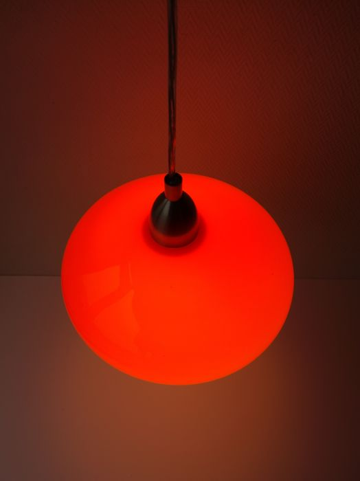 eglo leuchten orange space age style glass pendant light. Black Bedroom Furniture Sets. Home Design Ideas