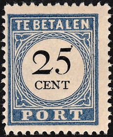 The Netherlands 1894 - Postage due mark and value in black, type III -NVPH P26a