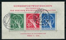 Berlin - 1949 - issue in support of aid as a block - with printing error - Michel block 1I