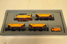 Märklin H0 - 2845 - Five-piece train of the company rail construction with locomotive, cars and van