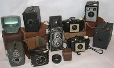 Lot of 8 old cameras: Kodak, Daci and DelMonta