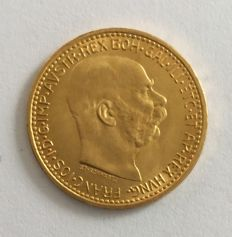 Austria - 10 crowns 1912 gold