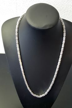 Silver king's braid link necklace 925 - 65.5 cm