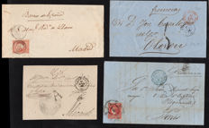 Spain 1851/1865 – Lot of 12 letters from the classic period
