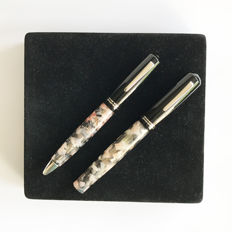 Delta Vintage 366 pen set ~ fountain pen and ballpoint pen ~