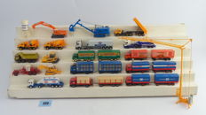 incl Kibri Scenery H0 - 20-piece collection of trucks, cranes and working vehicles