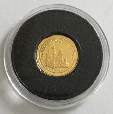 Nauru – 5 Dollars 2008 'Neuschwanstein Castle' – 0.5 g Gold