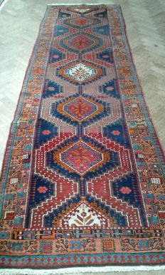 Old hand-knotted runner carpet 320 x 95 cm
