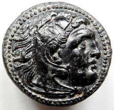 Ancient Greece - Kingdom of Macedonia, AE20 of Alexander III (336 - 323 BC), struck post mortem around 323-310 BC.