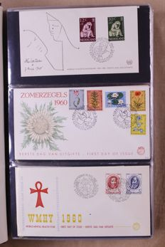 The Netherlands 1960/2001 – Complete collection FDCs in 2 DAVO standard albums
