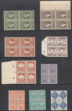 The netherlands 1913/1924 - Several editions in blocks of 4.