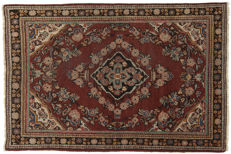 (Size 198 x 130 cm) – ANTIQUE genuine Persian carpet – Original – HAND-KNOTTED – MAHAL, PERSIA/IRAN  – Era: 1940–1950 – With certificate of authenticity from an official appraiser (Galleriafarah1970)