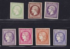 France 1850s/1860s, composition of seven colour Proofs.